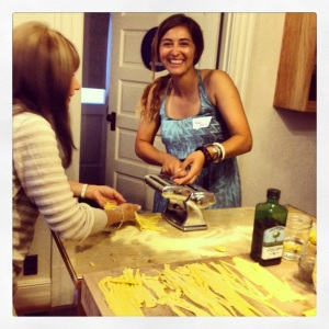 Anna Maria making pasta like a pro!